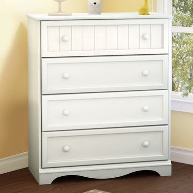 Pure White Savannah 4 Drawer Chest by SouthShore - Click to enlarge