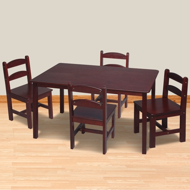 Cherry Rectangle Table with 4 Chairs by Kids Korner - Click to enlarge