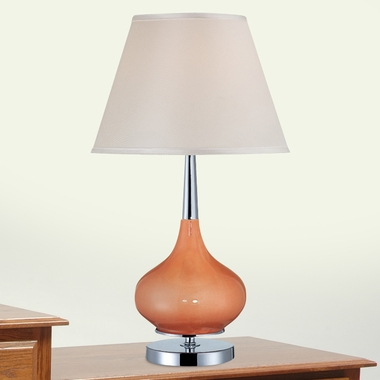 Mandisa Table Lamp in Chrome and Coral by Lite Source - Click to enlarge