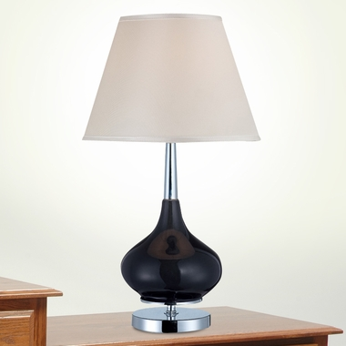 Mandisa Table Lamp in Chrome and Oynx by Lite Source - Click to enlarge