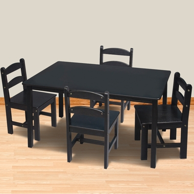 Espresso Rectangle Table with 4 Chairs by Kids Korner - Click to enlarge