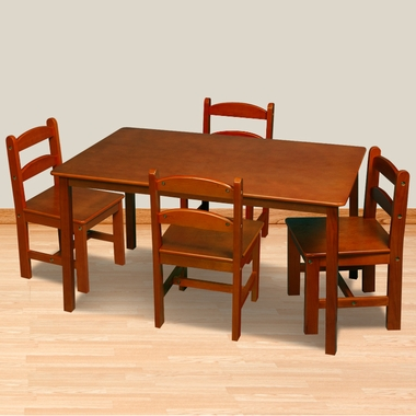 Honey Rectangle Table with 4 Chairs by Kids Korner - Click to enlarge