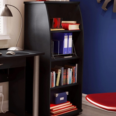 Solid black City Life Shelf Bookcase by SouthShore