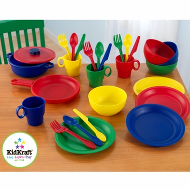 27 Piece Primary Cookware Set by KidKraft - Click to enlarge