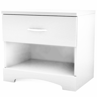 Pure White Step One Nightstand by SouthShore - Click to enlarge