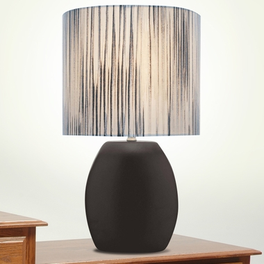 Reiko Ceramic Table Lamp in Black by Lite Source - Click to enlarge