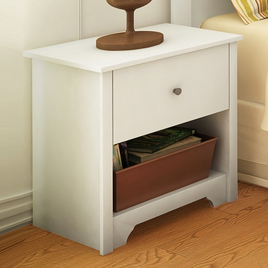 Pure White Fusion Night Stand by SouthShore - Click to enlarge