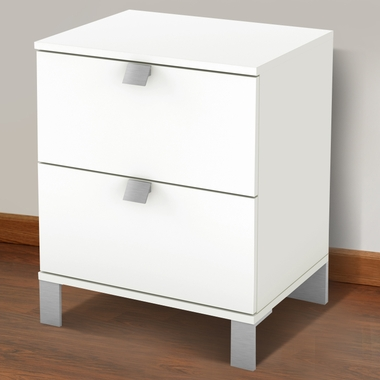 Pure White Karma Night Stand by SouthShore - Click to enlarge