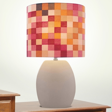 Reiko Ceramic Table Lamp in Latte by Lite Source - Click to enlarge