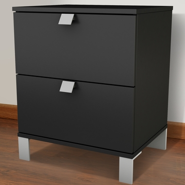 Pure Black Karma Night Stand by SouthShore - Click to enlarge
