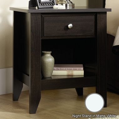 Matte White Shoal Creek Nightstand by Child Craft - Click to enlarge
