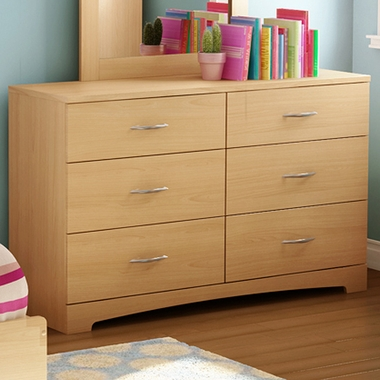 Natural Maple Step One Triple Dresser by SouthShore - Click to enlarge