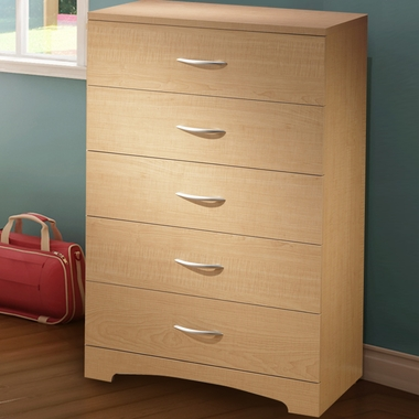 Natural Maple Step One 5 Drawer Chest by SouthShore - Click to enlarge