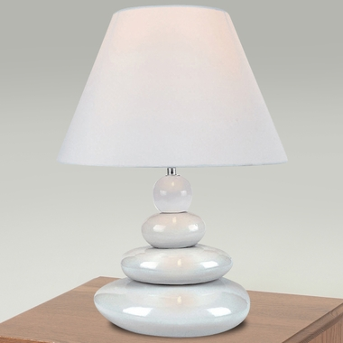 Tiya Table Lamp in White by Lite Source - Click to enlarge
