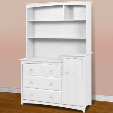 Beatrice Combo Tower W Hutch In White 03585 741_03741 121 By Storkcraft   Changing  Tables|Dressers At SimplyKidsFurniture