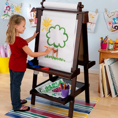Espresso Deluxe Wooden Easel by KidKraft - Click to enlarge