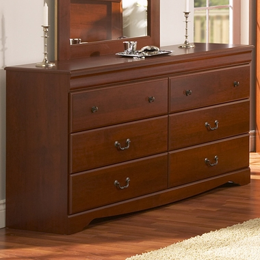 Classic Cherry Traditional Vintage 6 Drawer Triple Dresser by SouthShore