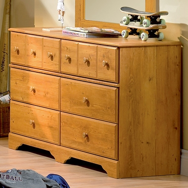 Country Pine Little Treasures Double Dresser by SouthShore