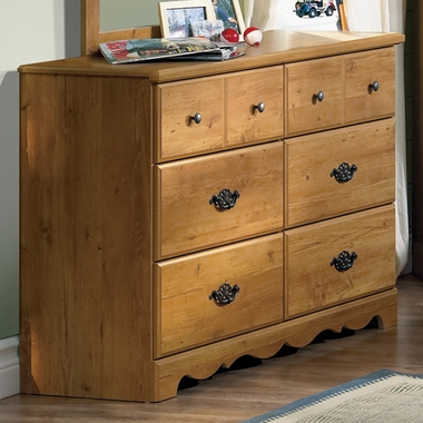 Country Pine Roslindale Double Dresser by SouthShore