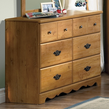Country Pine Cabana Triple Dresser by SouthShore