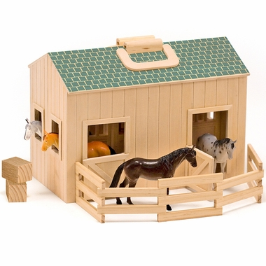 Fold & Go Stable by Melissa & Doug
