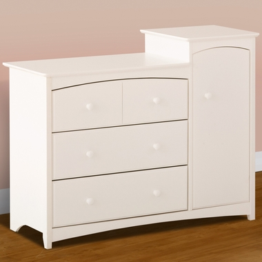 White Beatrice Combo Tower / Dresser by Storkcraft - Click to enlarge