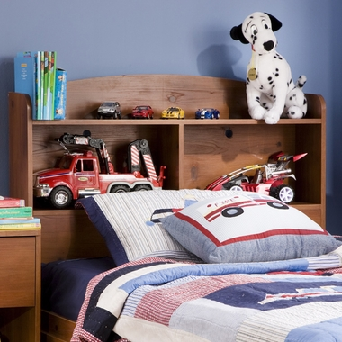 Sunny Pine Logik Twin Bookcase Headboard by SouthShore - Click to enlarge