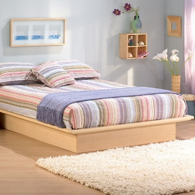 Natural Maple Step One Full/Double Platform Bed by SouthShore - Click to enlarge