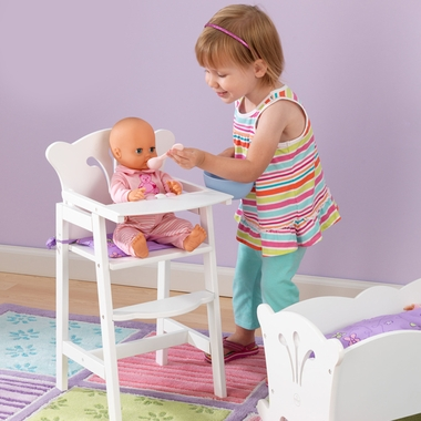 White Lil' Doll High Chair by KidKraft