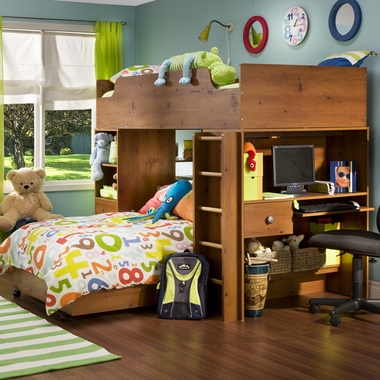 Sunny Pine Logik Complete Loft Bed by SouthShore - Click to enlarge