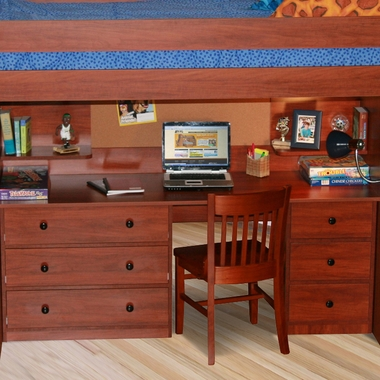 Utica Lofts Desk Station for Dorm by Berg Furniture