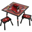 Firefighter Table and 2 Stool Set by Levels of Discovery