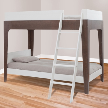 Perch Bunk Bed White And Walnut 1pbb02 By Oeuf Bunk