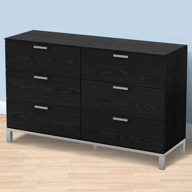 Black Oak Flexible Dresser by SouthShore