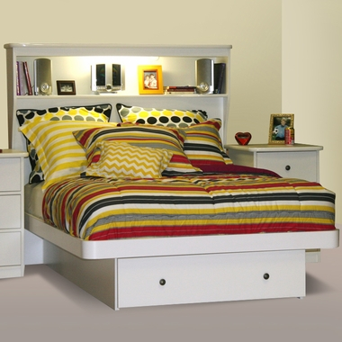Sierra Full/Double Platform Bed with Bookcase Headboard by Berg Furniture