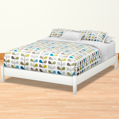 9c2055b9e12 Pure White Step One Contemporary Queen Platform Bed by SouthShore - Click  to enlarge
