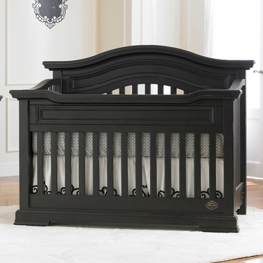 belmont lifestyle 4 in 1 convertible crib distressed black 2695782 by bonavita baby cribs at