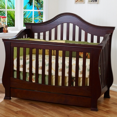 Ashbury 4-in-1 Sleigh Convertible Crib with Toddler Rail ...