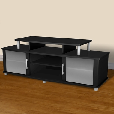 Solid black City Life TV Stand by SouthShore - Click to enlarge
