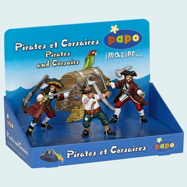 Papo Pirate Gift Box - 3 Pirates & Corsairs by Hotaling