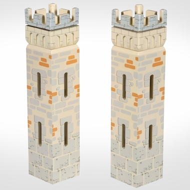 Papo Weapon Master Castle Set of 2 Small Towers by Hotaling