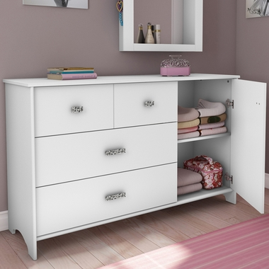 Pure White Tiara Transitional Dresser by SouthShore