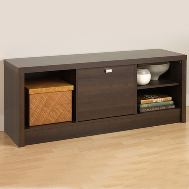 Espresso Series 9 Designer Cubbie Bench with Door by PrePac - Click to enlarge