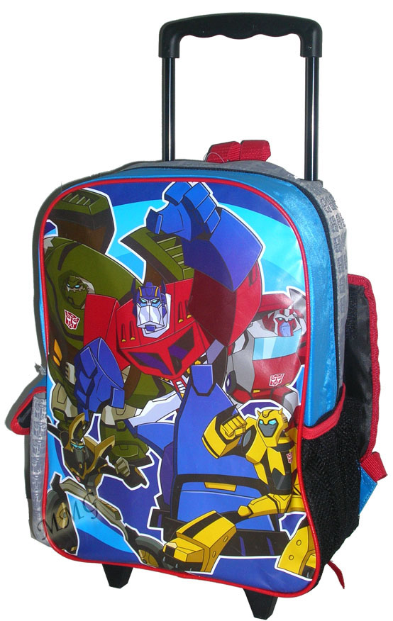 Transformers Optimus Prime Bumblebee Rolling Backpack Large