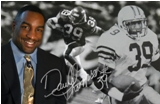 Darrell Thompson Autographed Metalart Collectible