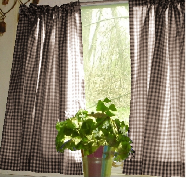 Brown Gingham Check Curtains - Best Curtains 2017