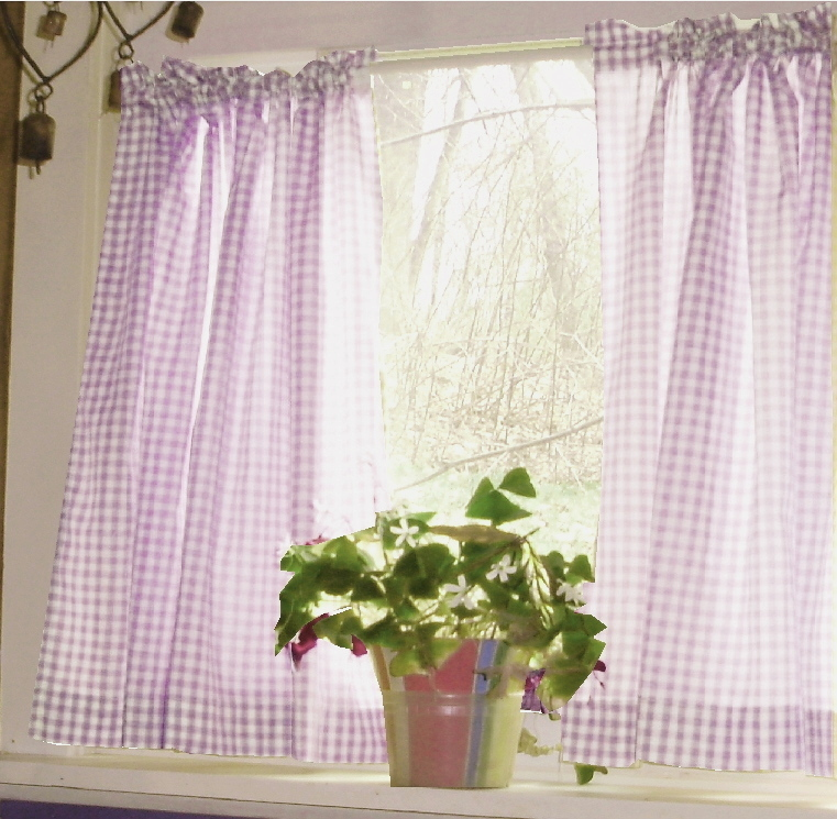 Gingham Check Kitchen/cafe Curtains --wholesale or Dropship Purchase