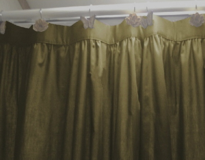 Solid Kelly Green Cotton Shower Curtain