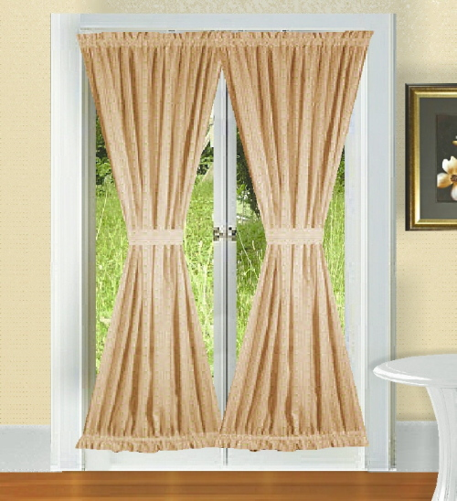 Solid Colored French Door Curtains In 66 Colors