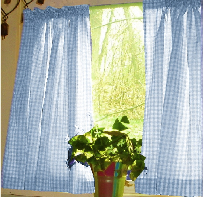Navy Blue Gingham Kitchen Curtains Trendyexaminer - Blue and yellow kitchen curtains